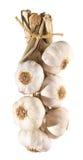 Garlic plait isolated. On white Stock Photo
