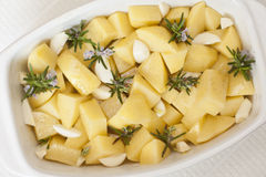 Rosemary potatoes Stock Photography