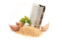 Garlic powder Stock Photo