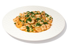 Garlic prawns Royalty Free Stock Images