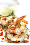 Garlic Prawns with Chili Royalty Free Stock Photography