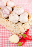 Garlic & Red Chili Peppers Royalty Free Stock Photo