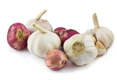Garlic and red shallot Stock Photography