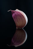 Garlic with reflection Royalty Free Stock Photos