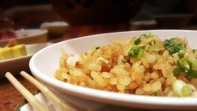 Garlic rice. Japanese freid rice Royalty Free Stock Photography