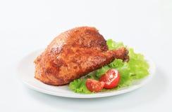 Garlic roasted chicken leg Stock Photography