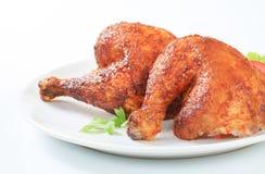 Garlic roasted chicken legs Stock Photos