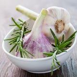 Garlic and rosemary Royalty Free Stock Photography