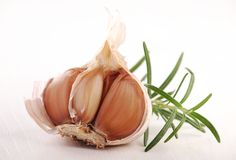 Garlic and rosemary Stock Image