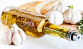 Garlic rosemary oil Stock Photo
