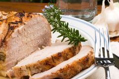 Garlic Rosemary Roast Pork Royalty Free Stock Photos