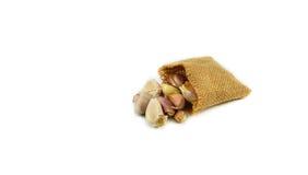 Garlic sacks Stock Photography