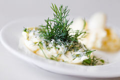 Garlic sauce Royalty Free Stock Photography