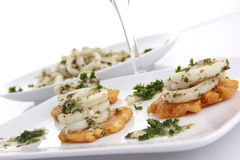 Garlic sauce Calamari Royalty Free Stock Image