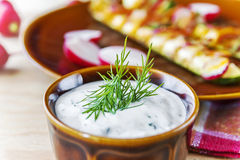 Garlic sauce Royalty Free Stock Images