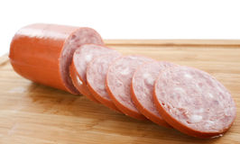 Garlic sausage Stock Photo