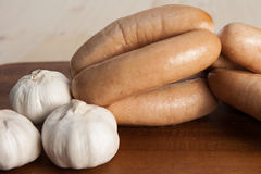 Garlic sausages Stock Photography