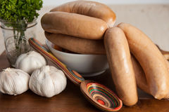 Garlic sausages Royalty Free Stock Photo
