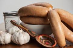 Garlic sausages Stock Photo
