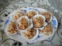 Free Garlic Scallops Royalty Free Stock Photos - 60282738
