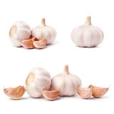 Garlic set isolated on white background Royalty Free Stock Image