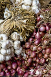 Garlic & Shallots Royalty Free Stock Photography