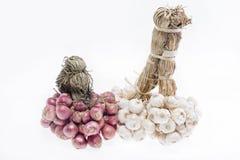 Garlic and shallots Stock Photography