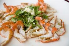 Garlic shrimp Stock Images
