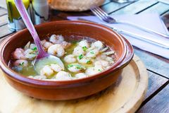 Garlic shrimp in a plate Stock Photography