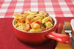 Garlic shrimp with white wine sauce Royalty Free Stock Image