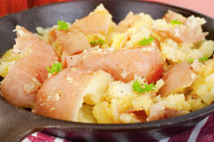 Garlic Smashed Potato Stock Images