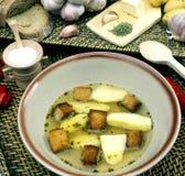 Garlic soup Royalty Free Stock Photography