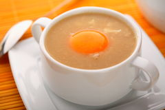 Garlic soup on the plate Royalty Free Stock Photo