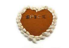 Garlic Spice Heart Stock Photos