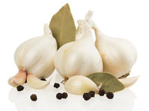 Garlic with spices   Stock Photography