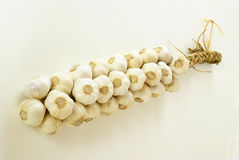 Garlic string stock image