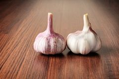 Garlic on a table Royalty Free Stock Image