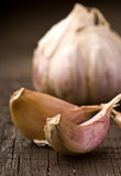 Garlic on the table Stock Photography