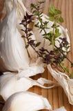 Garlic and thyme Stock Photos