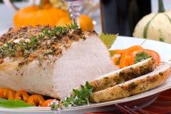 Garlic Thyme Roast Pork Stock Photo