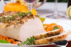Garlic Thyme Roast Pork Stock Photography