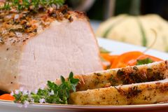 Garlic Thyme Roast Pork Royalty Free Stock Images