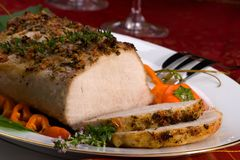 Garlic Thyme Roast Pork Royalty Free Stock Photos