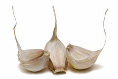Garlic to flavor the food. Stock Photo