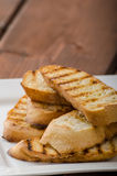 Garlic toast, mini baguettes, fresh and fragrant Stock Photos