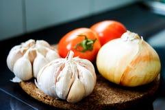 Garlic tomato Stock Photo