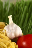 Garlic, Tomato and Pasta Royalty Free Stock Photography