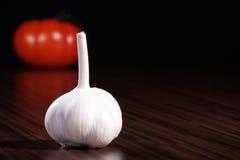 Garlic and tomato Stock Photo