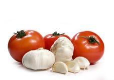 Garlic and tomatoes Royalty Free Stock Photo
