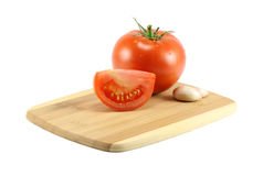 Garlic And Tomatoes Stock Images